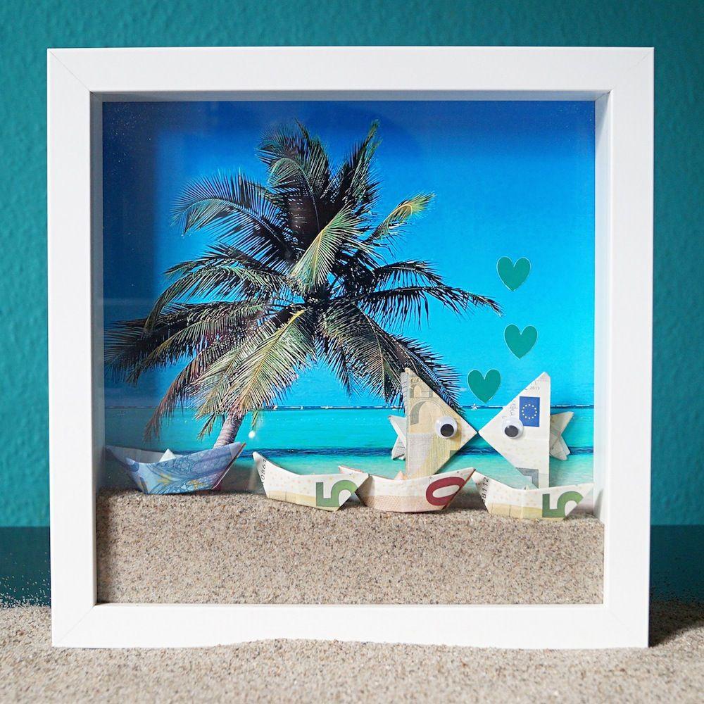 maritimer bilderrahmen als hochzeitsgeschenk geldgeschenk zur hochzeit wedding gift idea. Black Bedroom Furniture Sets. Home Design Ideas