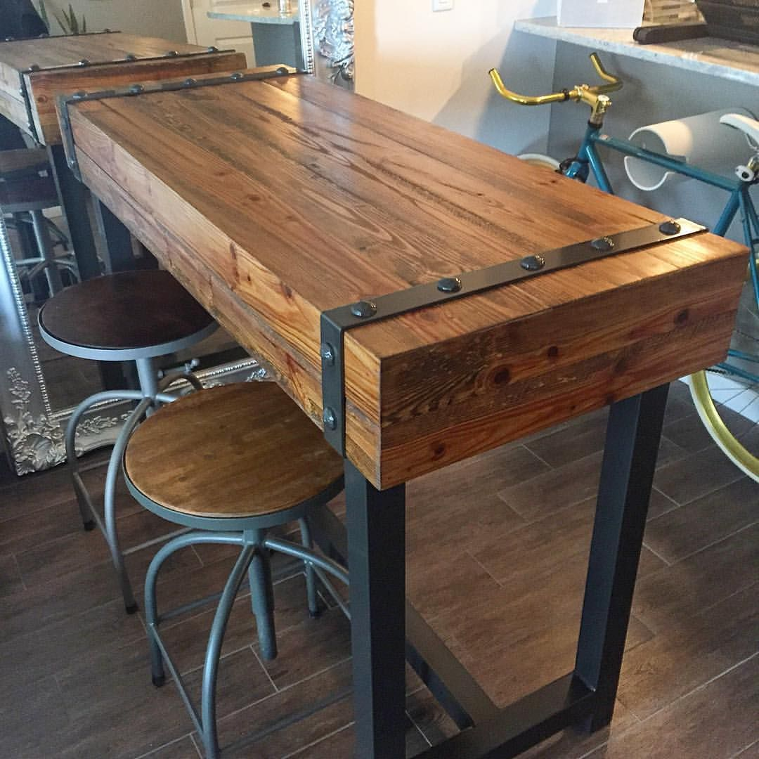 Superior Industrial Design Bar Height Table