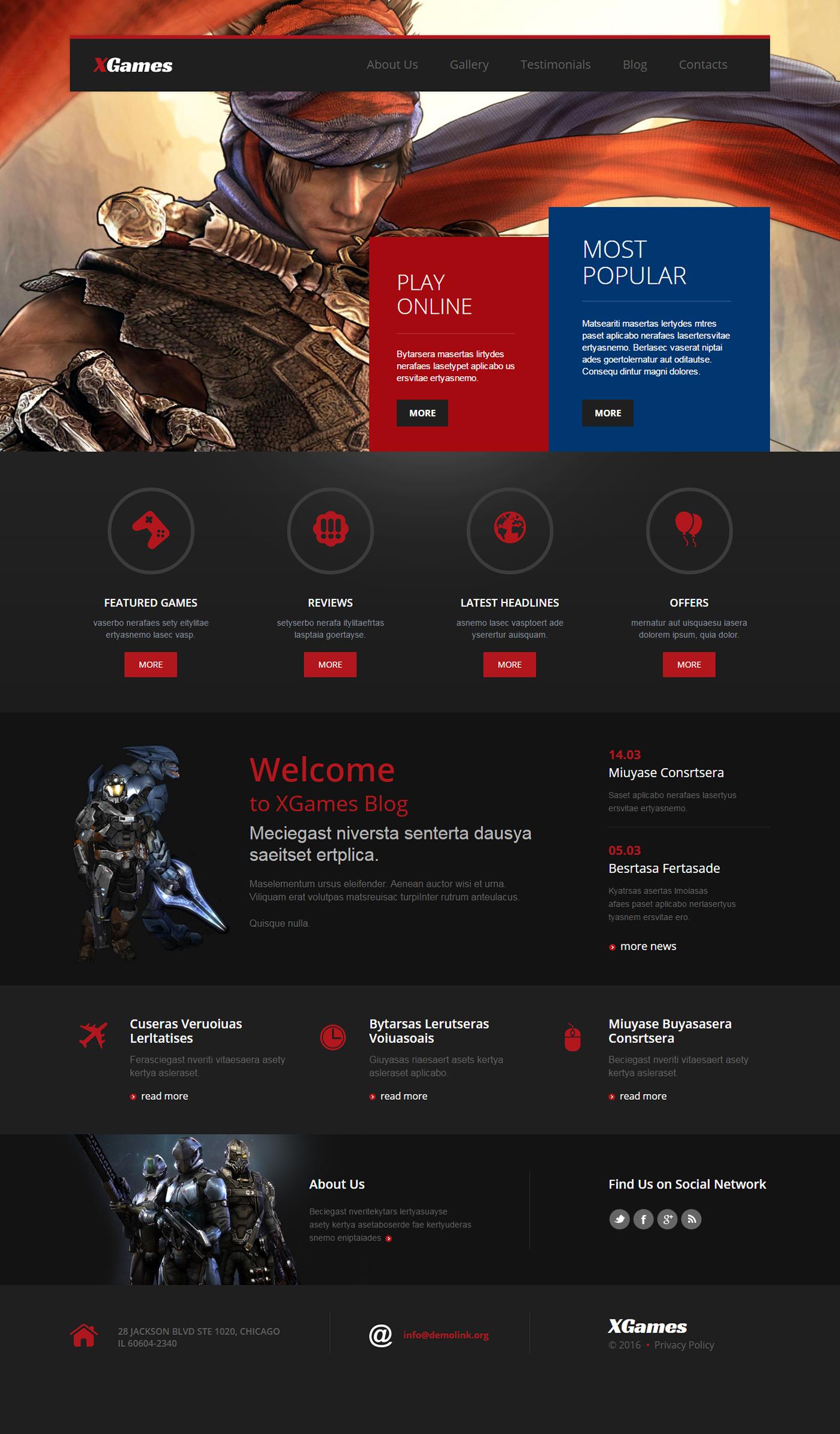 Games WordPress Theme on Behance
