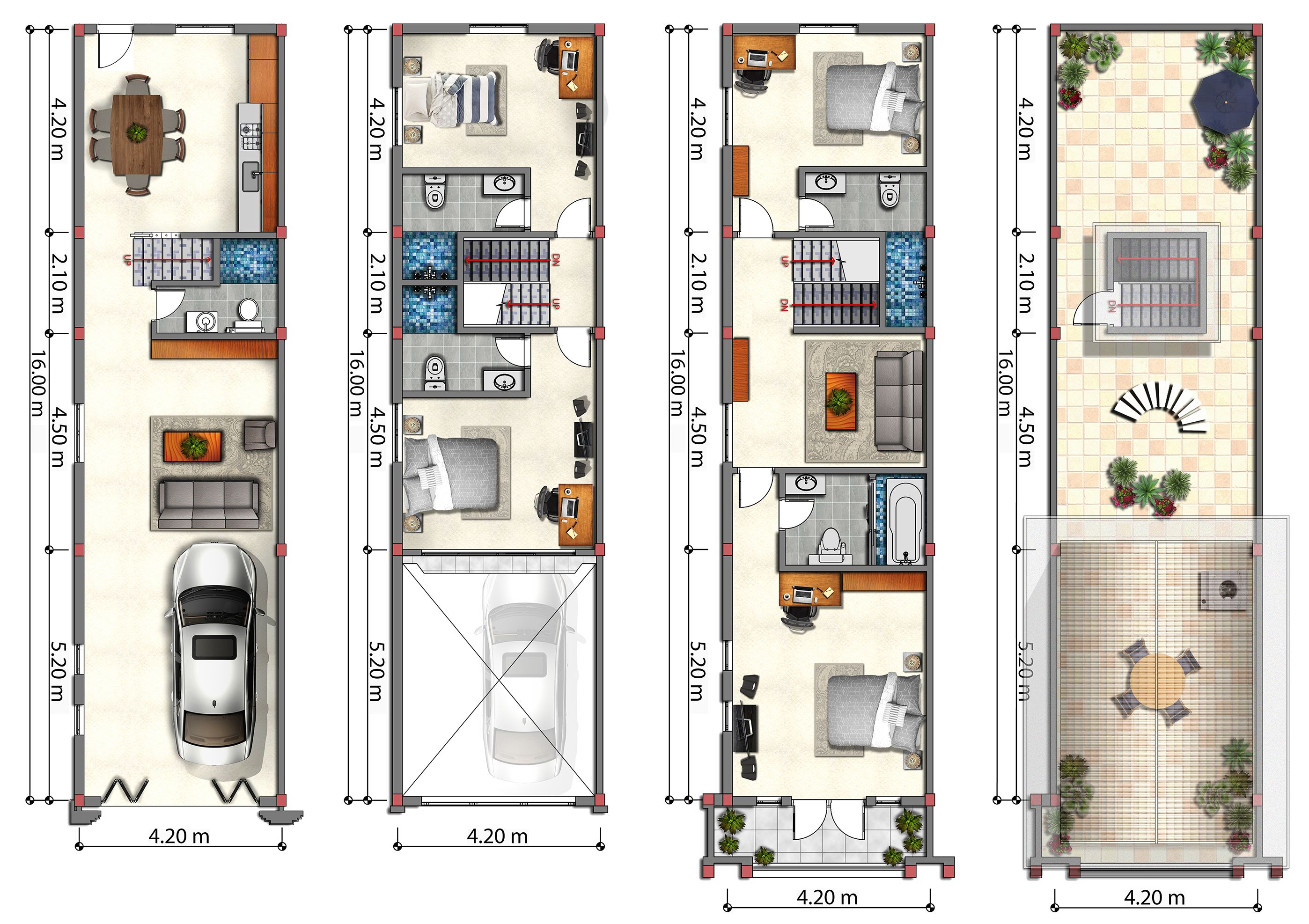 Floor Plans Flat House Phnom Penh Cambodia Gc Flat House Design House Plans House