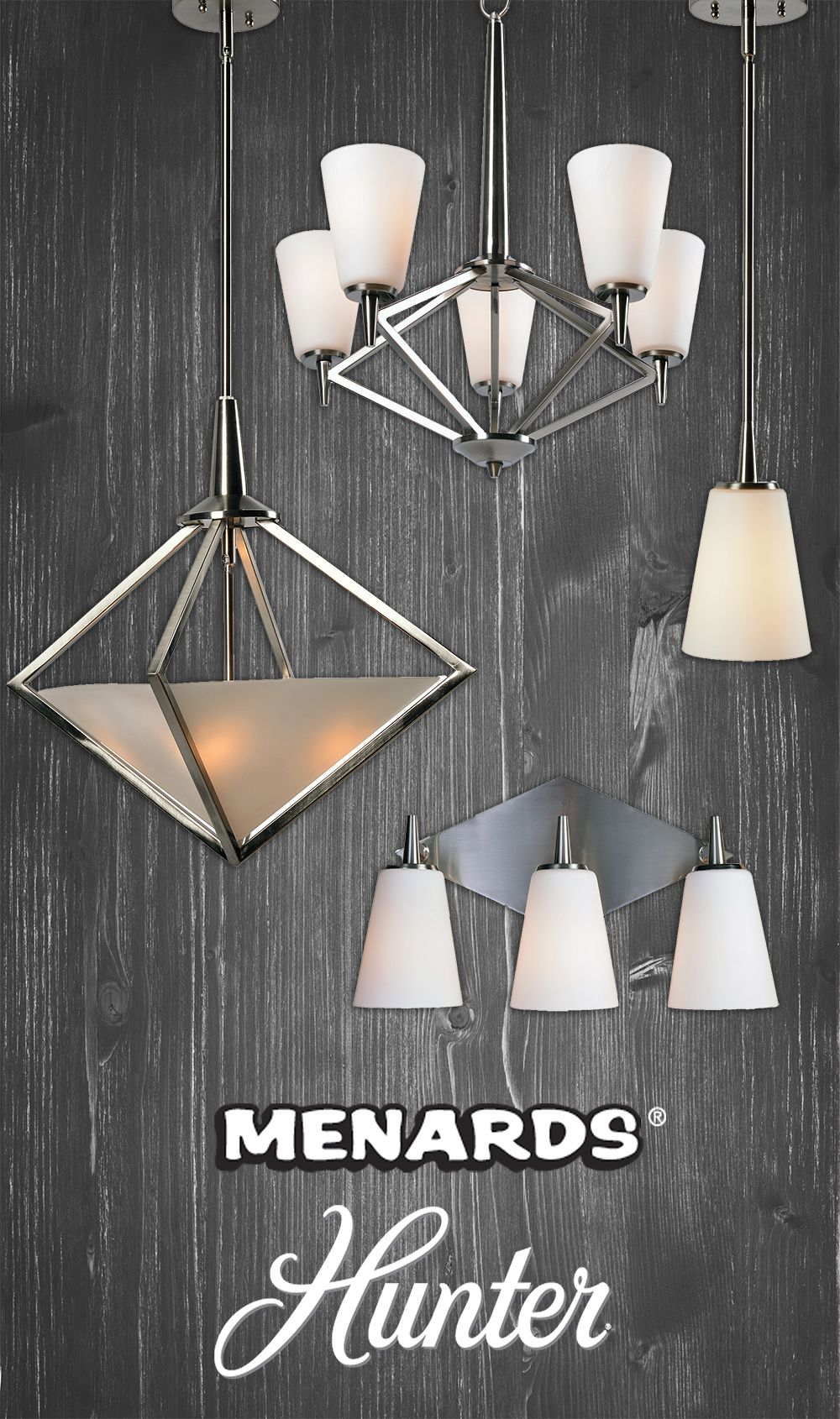 The Hunter Lighting Hedron Collection Offers An