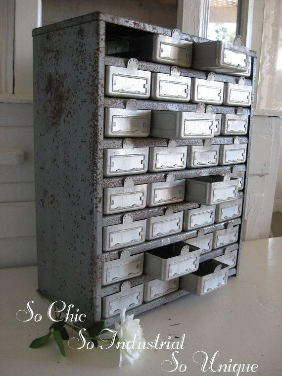 industrial furniture hardware. Vintage Industrial Hardware Drawers Parts By SweetMagnoliasFarm, $124.50 Furniture R