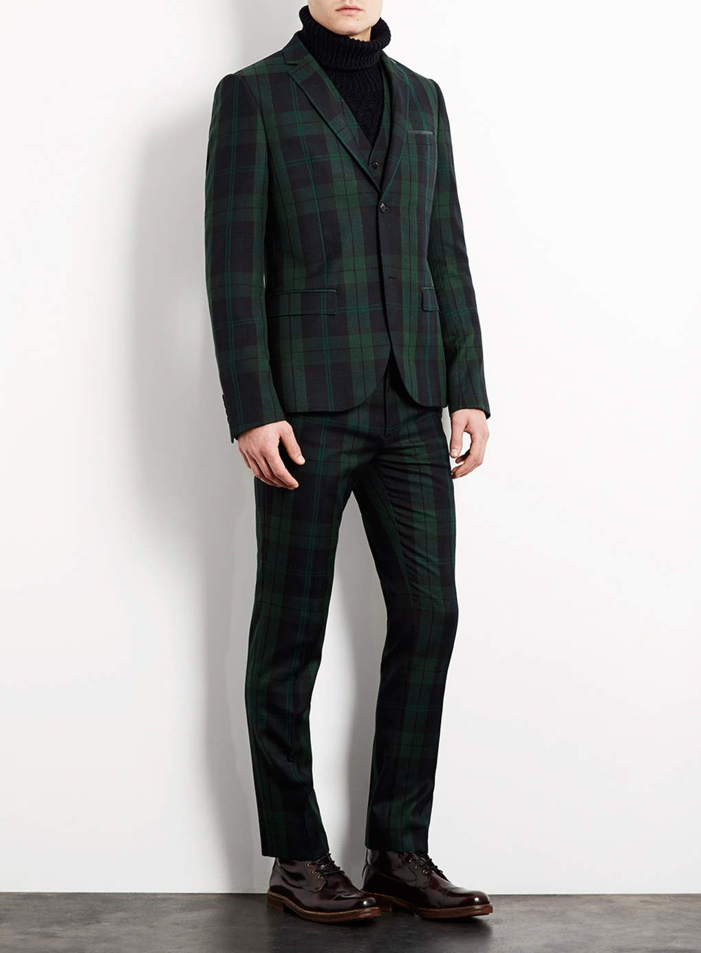 Green navy checkered suit by TOPMAN | Your Pinterest Likes ...
