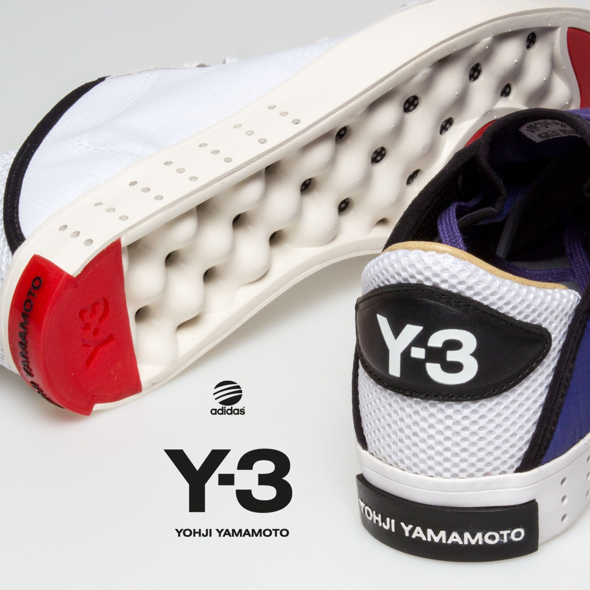 8b3147196 Yoji Yamomoto an influential Japanese fashion designer collaborates with  adidas to create these beautiful Y-3 sneakers for Men.