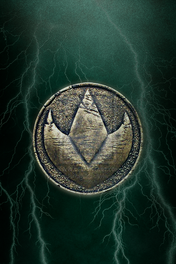 Mmpr Green Ranger Dragonzord Coin Iphone Wallpaper By