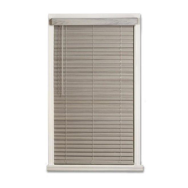Allen Roth Cordless Horizontal Blind Faux Bois 2 X 30 X 48 Grey Rona Faux Blinds Blinds Modern Blinds