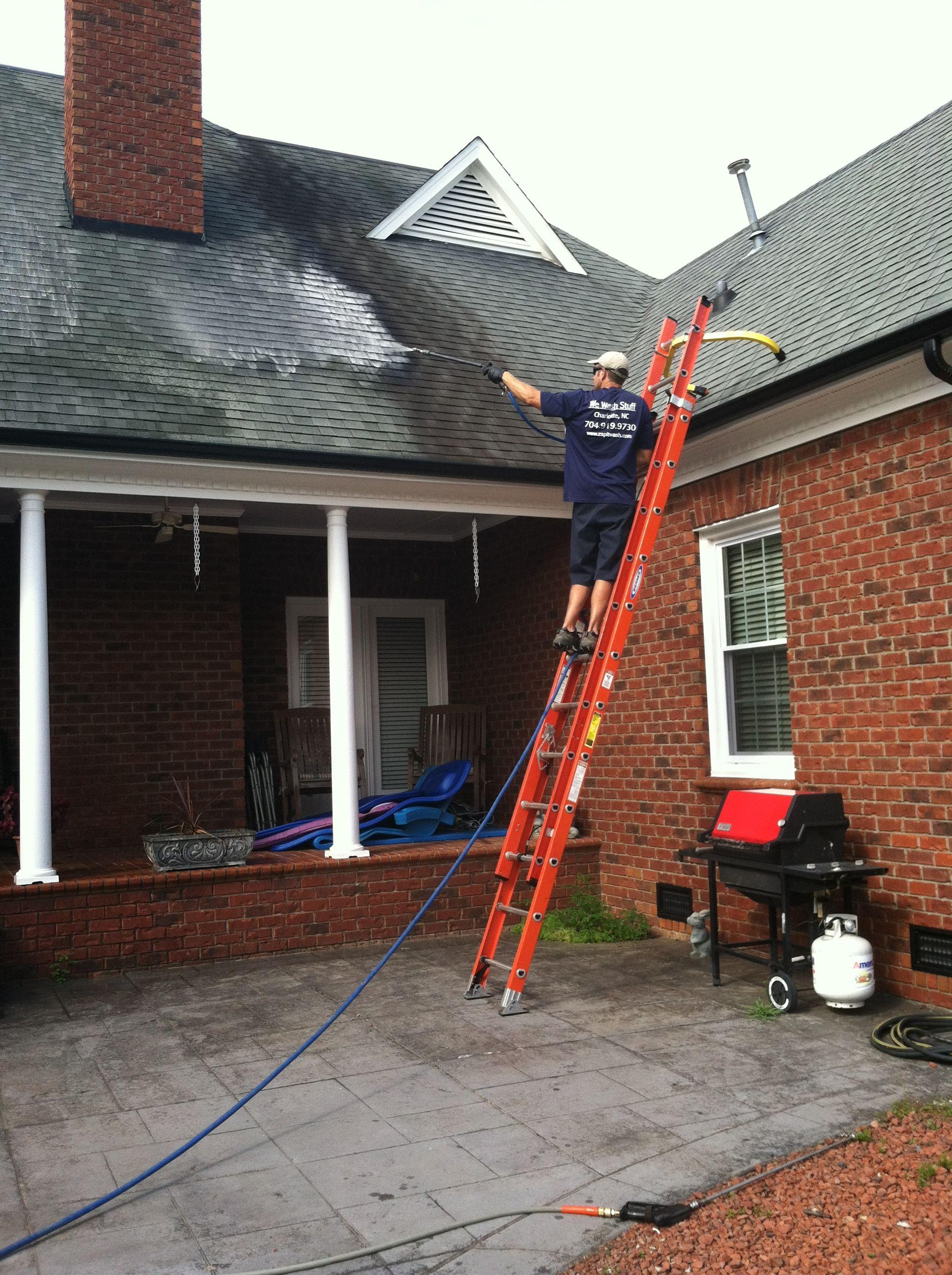 Pressure Washing Roof In Monroe Nc Roof Cleaning Pressure Washing Business Pressure Washing
