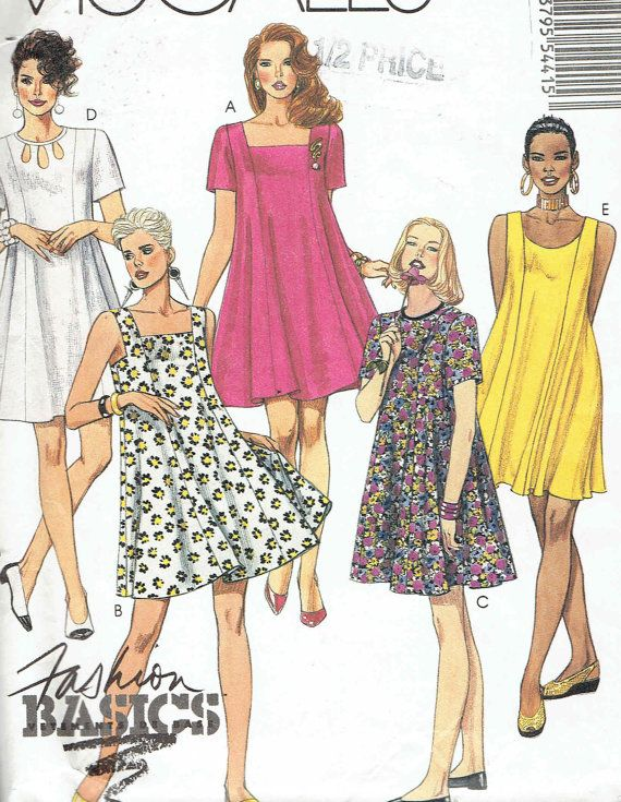 Tent Dress Pattern Mccalls 5441 Pullover Trapeze By Miabdrygoods