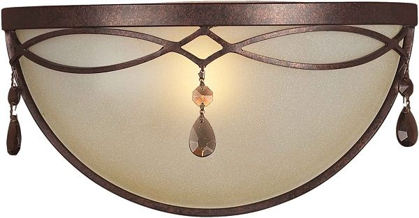 Shaded Umber Glass Cheap Bathroom Light Fixtures