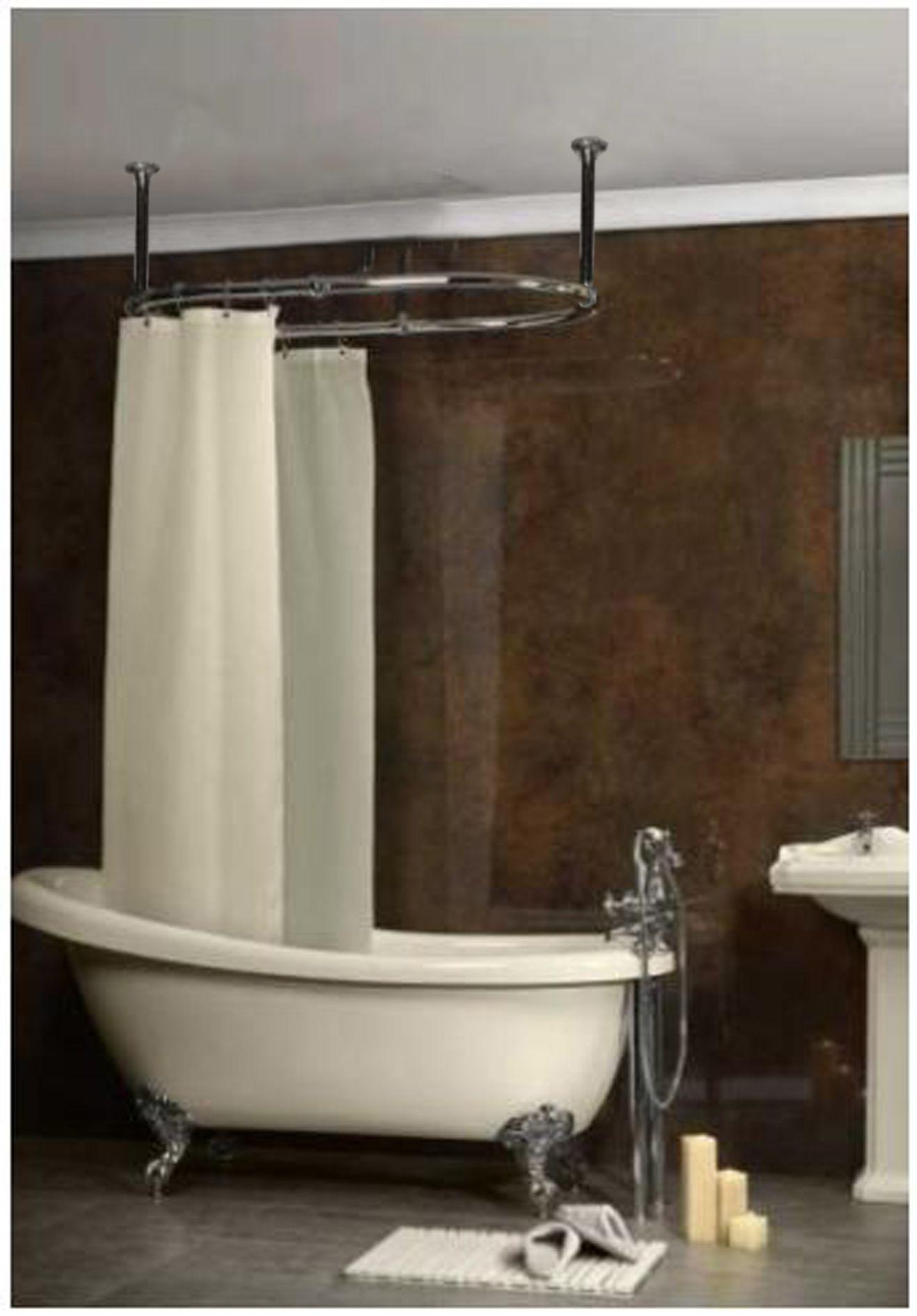 Schone Badezimmer Ideen Mit Klassischen Stil Feat Vintage Weiss Badewanne Und Aluminium D Gold Shower Curtain Freestanding Bath With Shower Shower Curtain Decor