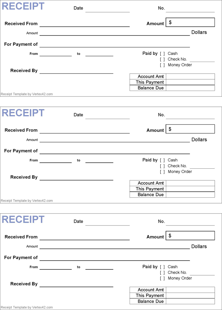 Generic Receipt Template  Marketing    Receipt
