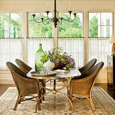 extraordinary cafe curtain living room   Southern Living's 2013 Idea House!   Phoebe Howard ...