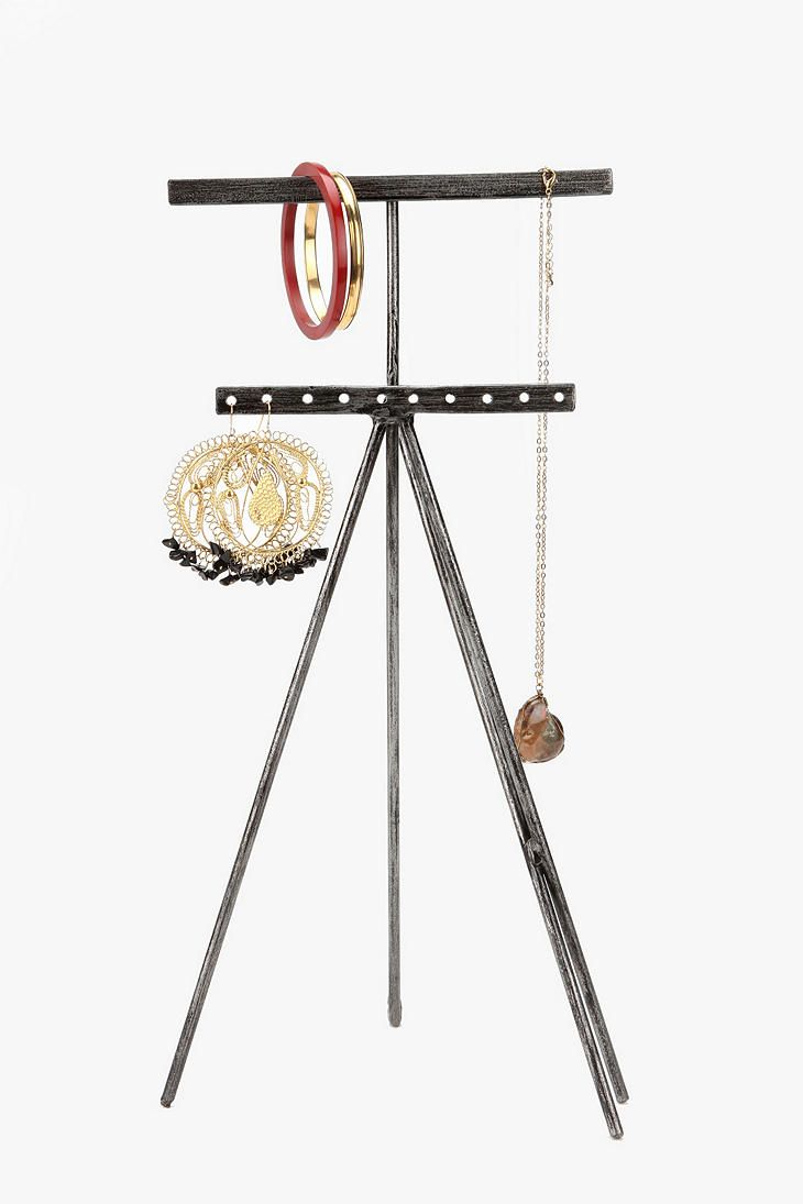 This one is artsy, like this too!   Industrial Jewelry Stand  #UrbanOutfitters