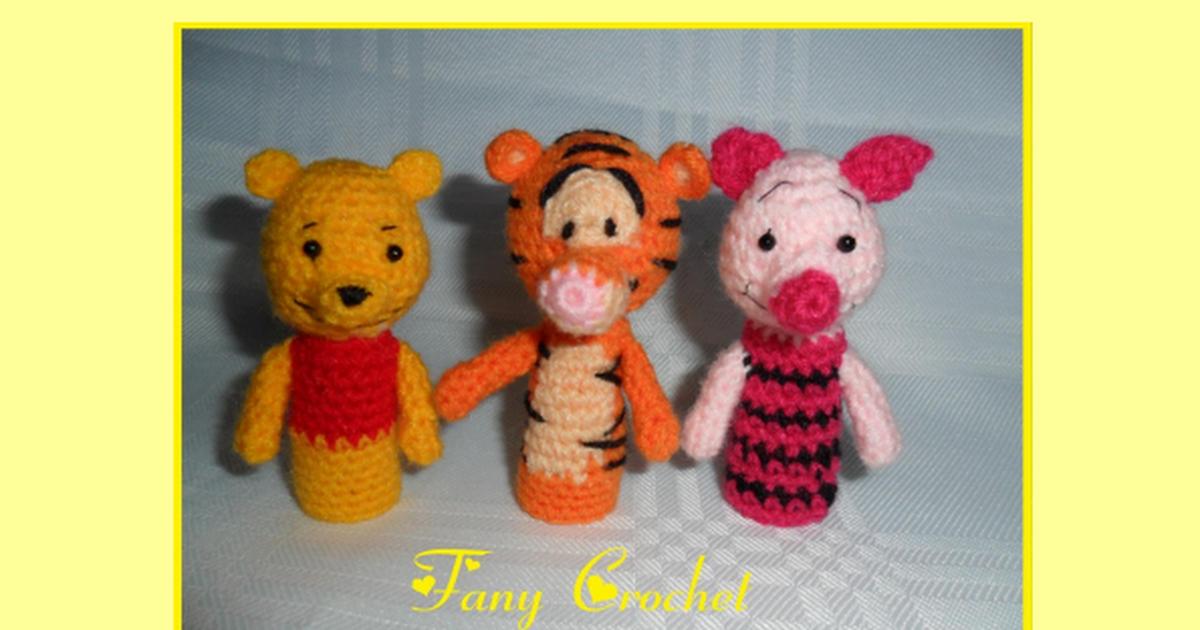Patrones Titeres de dedos personajes de winnie pooh.pdf | Free ...