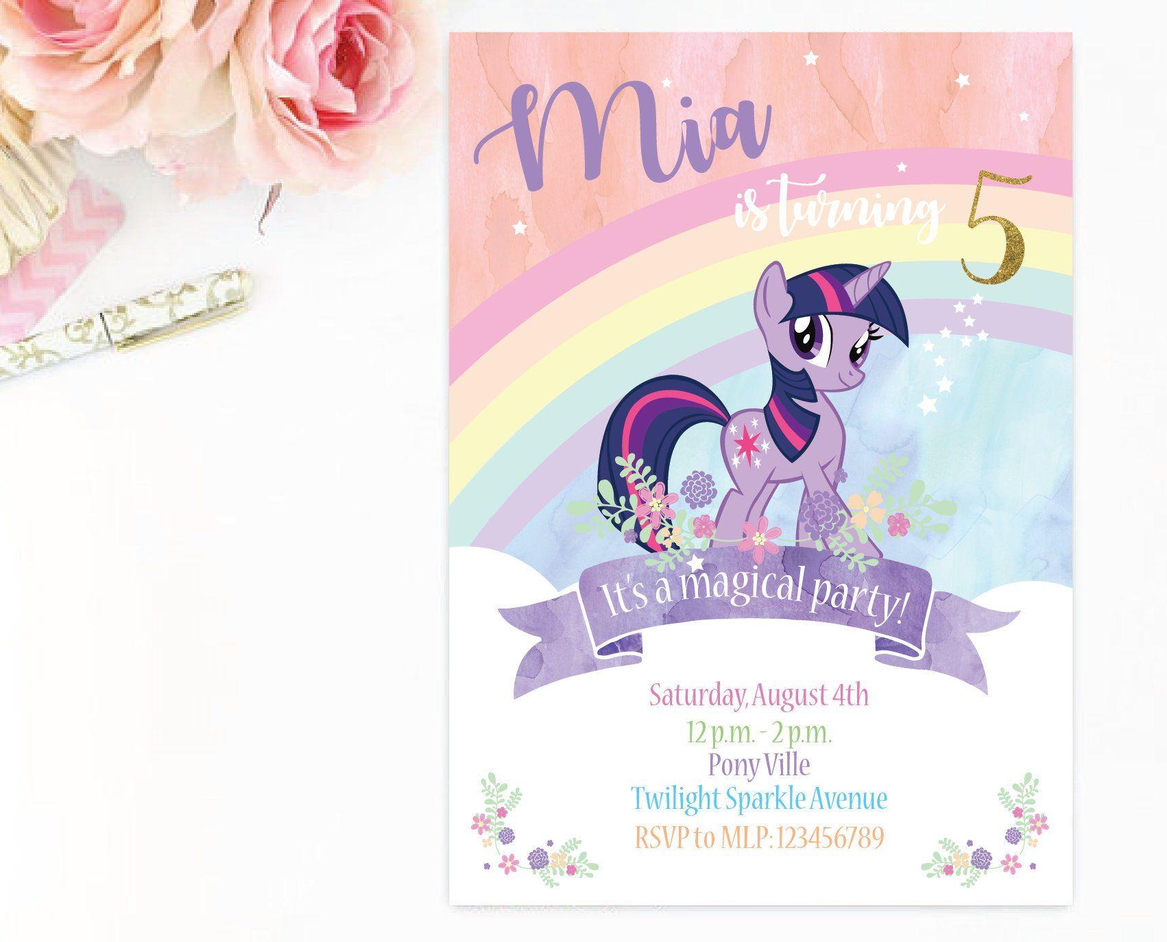 Customized Twilight Sparkle Digital Printable Birthday