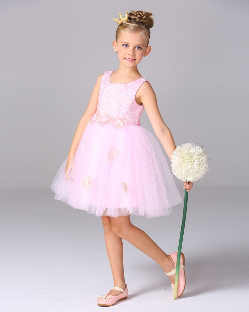 Retail Elegant 4 Color Tulle Flower Girl Dresses for Weddings ...