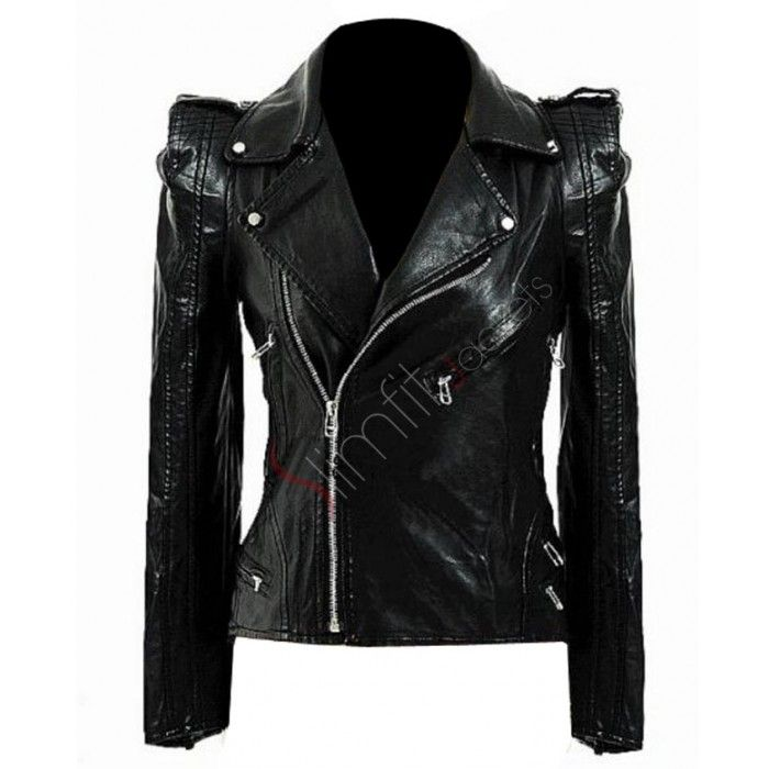 leather biker jackets for women | Black Leather Motorcycle Jacket ...