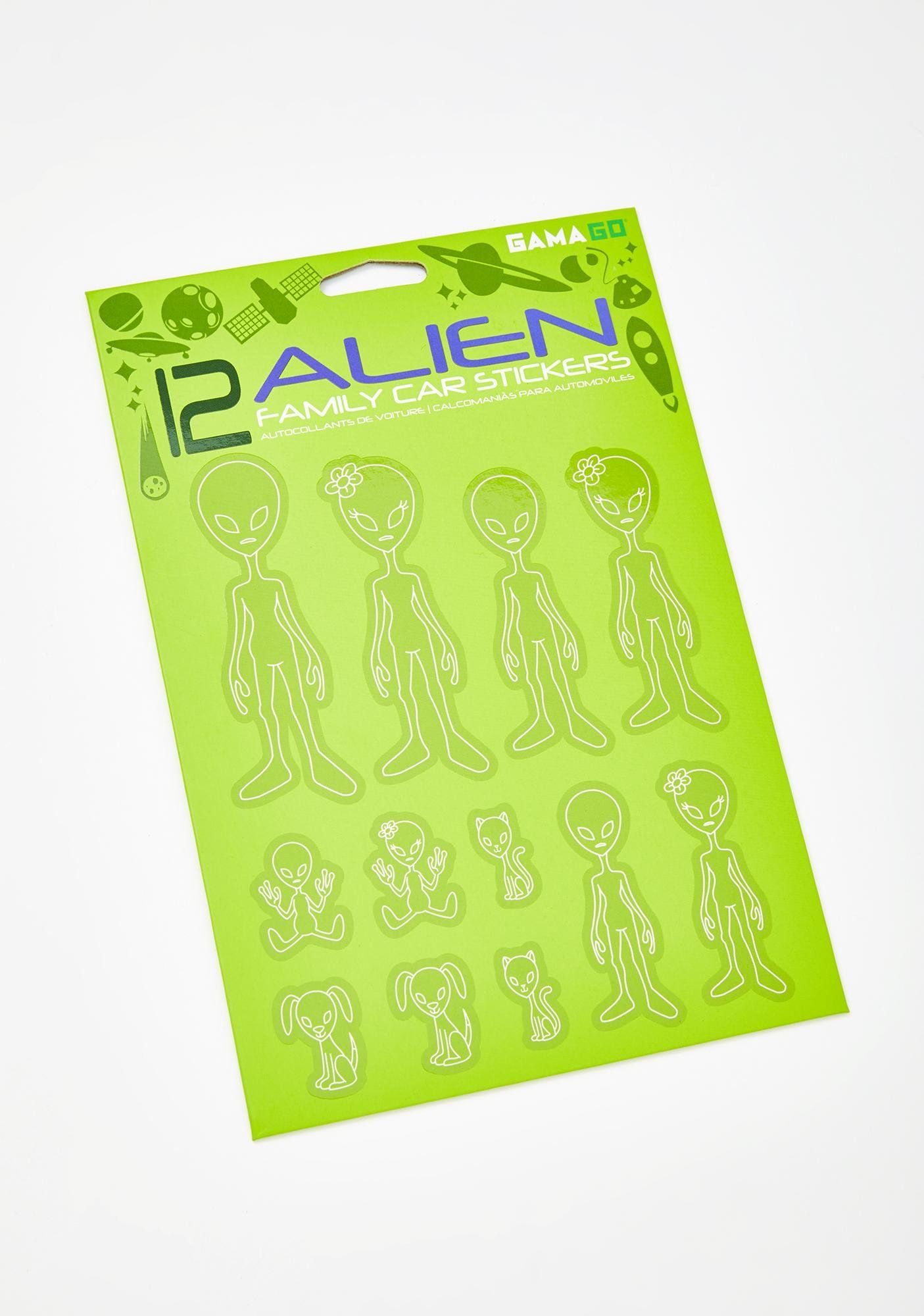 Alien Family Car Stickers Family Car Stickers Car Stickers Family Car [ 2000 x 1405 Pixel ]