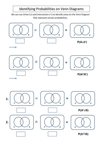 Venn Diagram Intro Worksheetcx Statistics Pinterest Venn