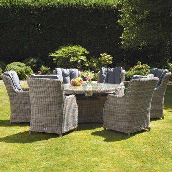 Royalcraft Wentworth Imperial Round 6 Seater Dining Set Garden