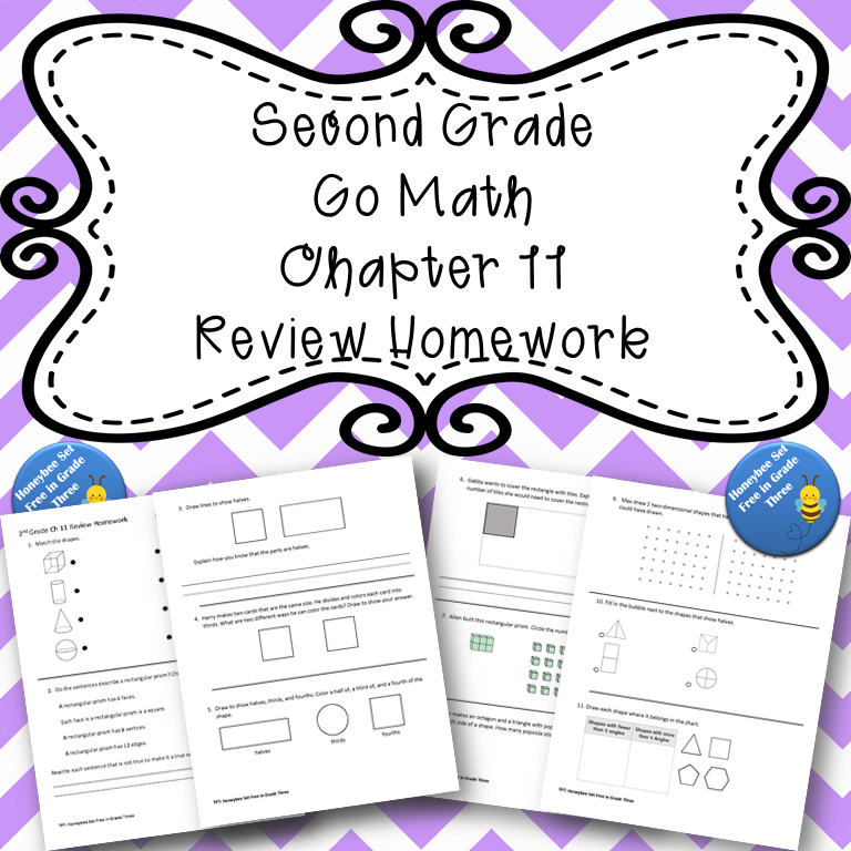 Second Grade Go Math Chapter 11 Review Homework in 2020 ...