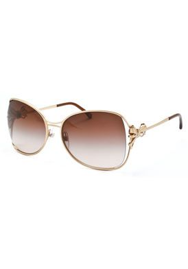 Chanel Sunglasses Matte Gold Brown Gradient Ledya In 2019