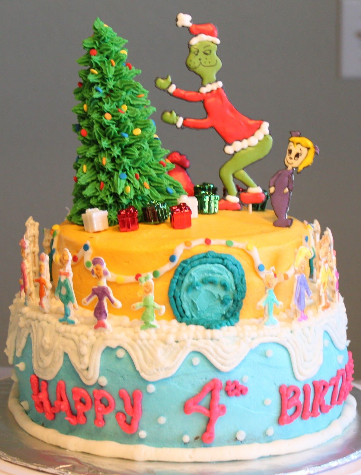 The, the, the Grinch Cake!! by Mama Clucks Christmas