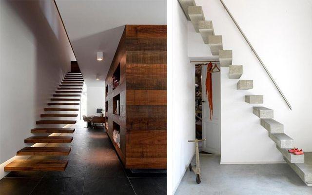 Decoraci n de escaleras voladas espacios - Iluminacion escaleras interiores ...