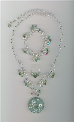 Mary Occasions Custom made Swarovoski crystal and beaded jewelry sets