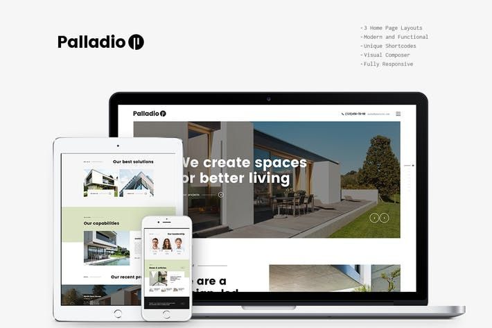 Palladio Interior Design & Architecture WP Theme