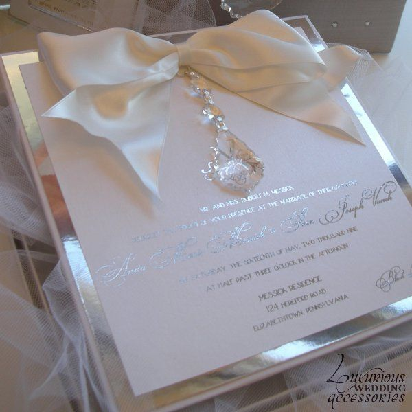 Versailles Wedding Invitation Hanging Crystal Layered On Silver Mirror Xo Embellishments Invitations This Is Just Too Beautiful Not To Pin