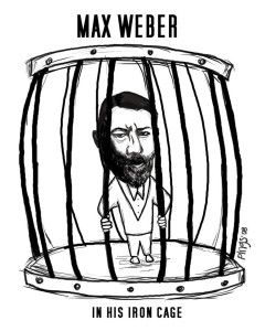 The Iron Cage- Max Weber Rationalism: - max weber's emphasis on formal rationality where he worried about a dehumanization that would happen in society, the notion of the iron cage represents this alienation one feels.