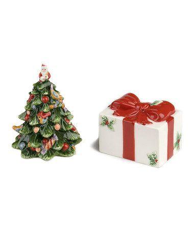 Christmas Tree & Present Salt & Pepper Shakers by Spode
