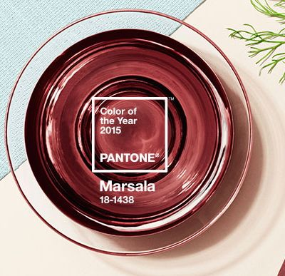 2015 Pantone Color of the Year: Marsala...I actually just got some roses in that were this color! I've never seen it before in a flower and it really was gorgeous!