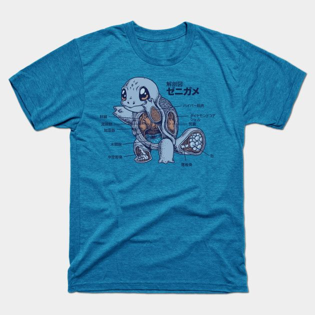 f3c8469eb SQUIRTLE ANATOMY T-Shirt | Pokemon | T shirt pokemon, Pokemon t, Shirts