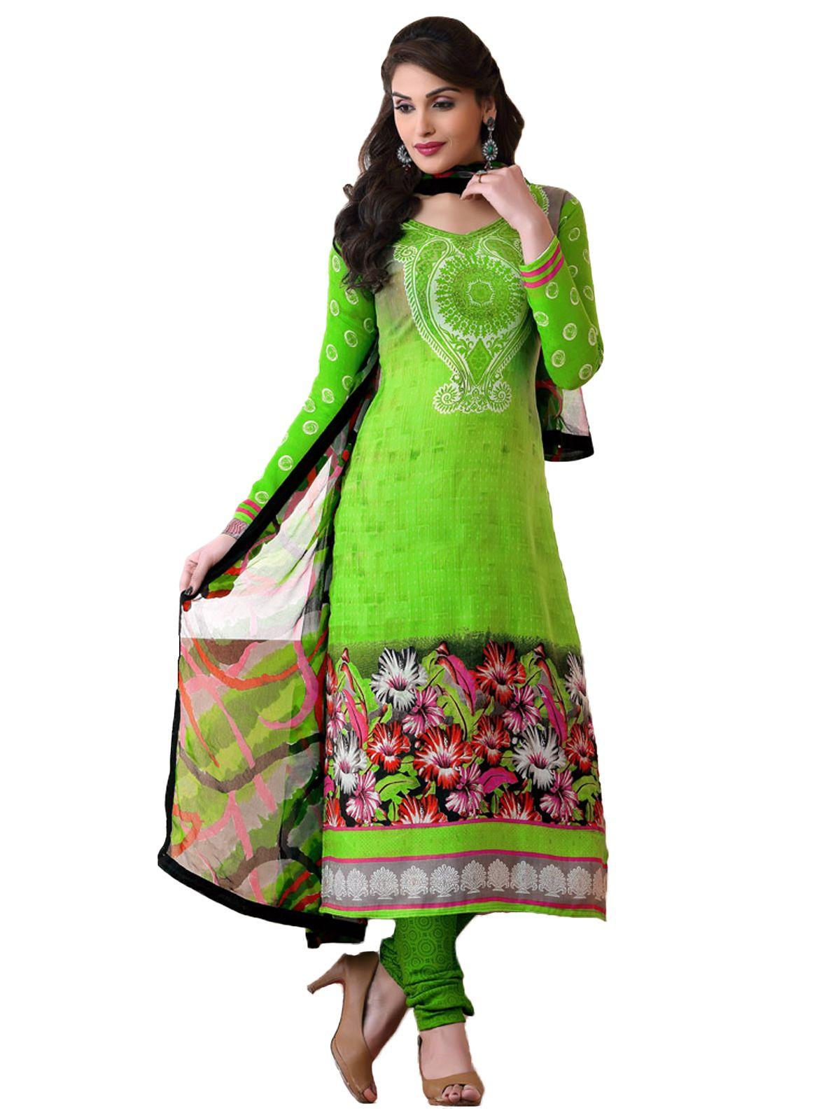 Buy pure georgette #dressmaterial online at #craftshopsindia