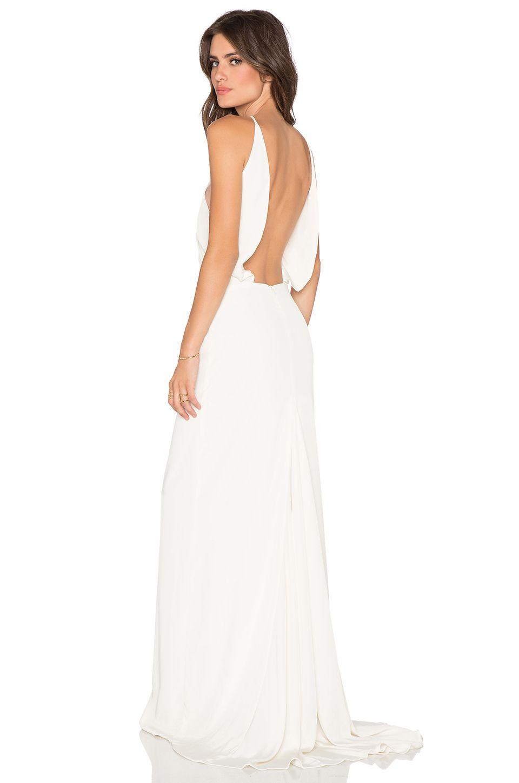 Assali paola grande maxi dress in cream dresses pinterest