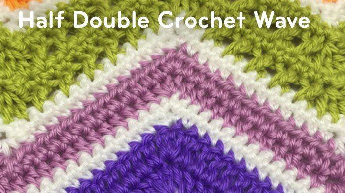 How To Half Double Crochet A Wave Afghan Tutorial Crochet