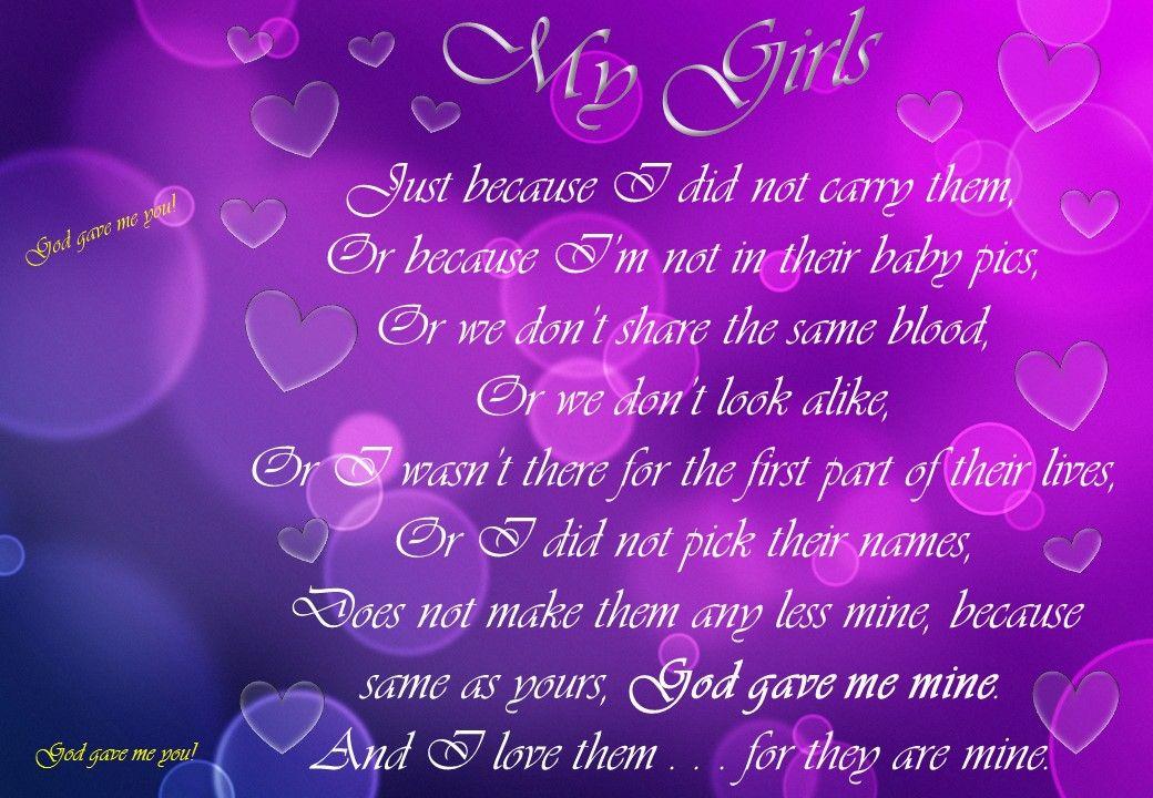 My Girls, poem, Alta Anderson