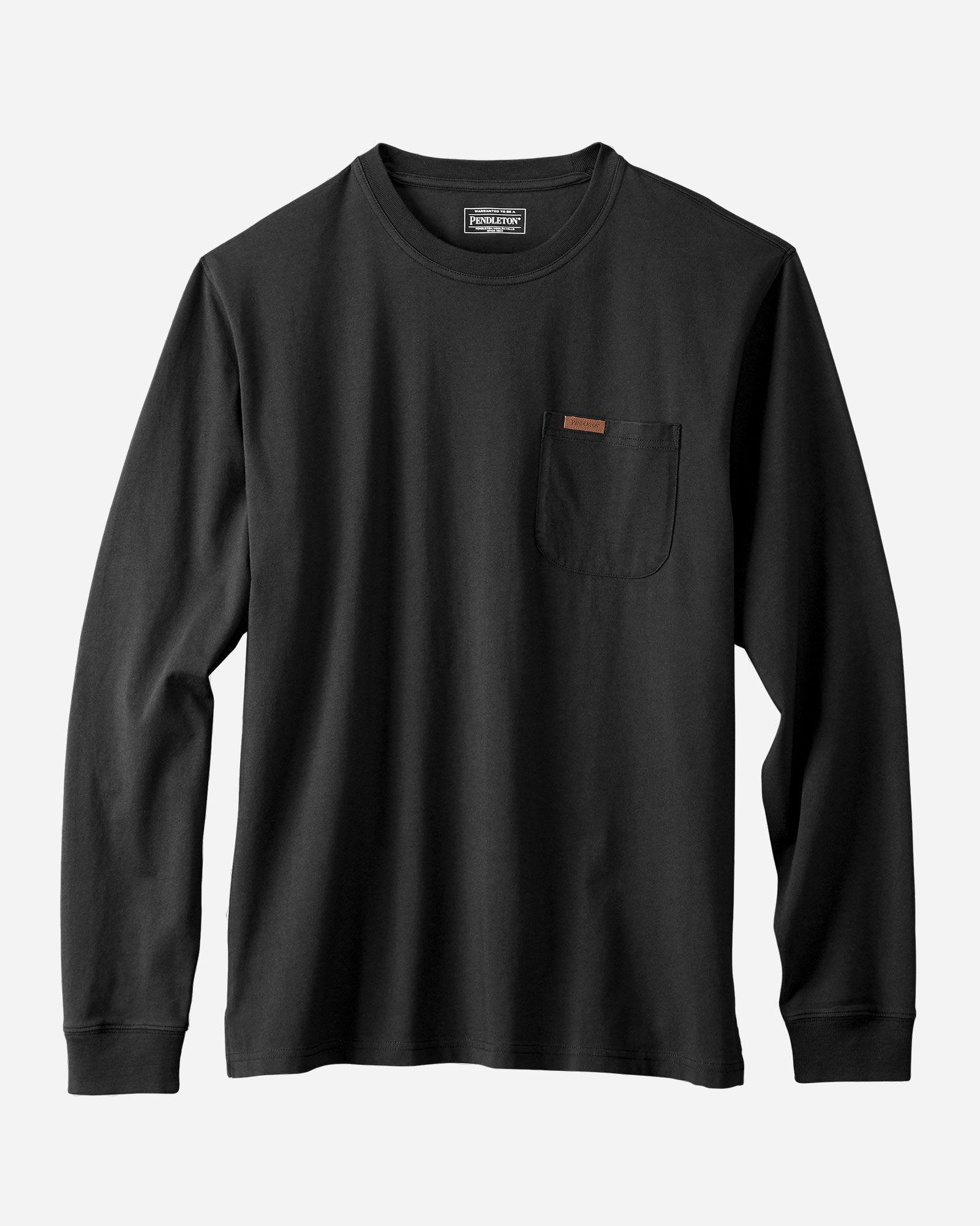 Men S Long Sleeve Deschutes Pocket Tee Shirt In 2020 Long Sleeve