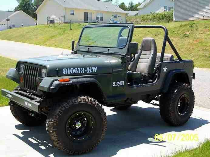 Now This Yj Was Done Up Right Love The Military Paint Job And Overall Look 5 Stars Jeep Wrangler Yj Jeep Yj Jeep