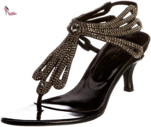 39 L18553W Sandales Unze Chaussures Noir femme L18553W EU wFSc4qUA