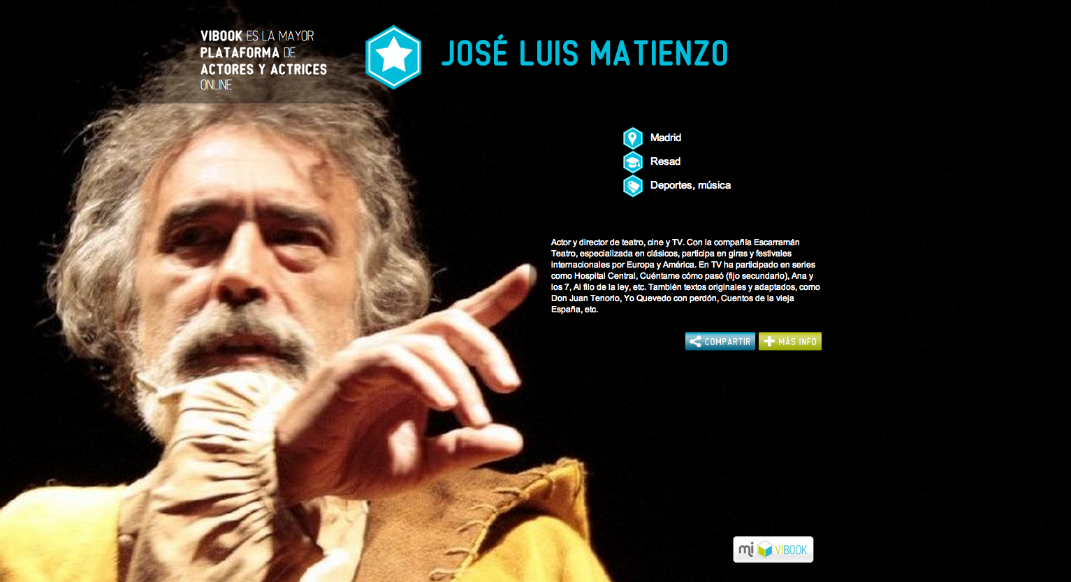 Actor JOSÉ LUIS MATIENZO