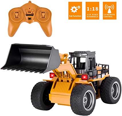 DOUBLE E RC Front Loader Bulldozer Remote Control Truck 8 Channel Construction T