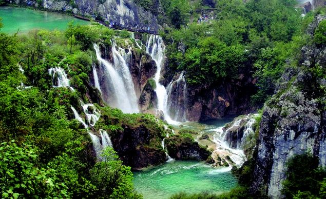 Plitvice Lakes National Park sits 80 miles south of Croatia's capital, Zagreb, an easy two-hour drive. (From: 10 Most Beautiful Waterfalls)