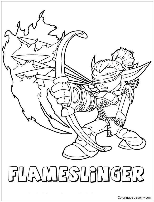 skylanders fryno coloring pages | Skylanders Giants Fire Flameslinger Coloring Page ...