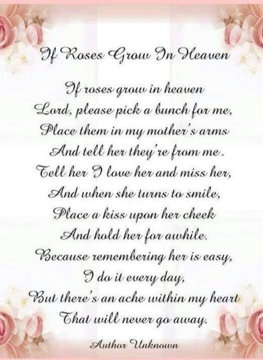 If roses grow in heaven   Lord, it's me again, please wish