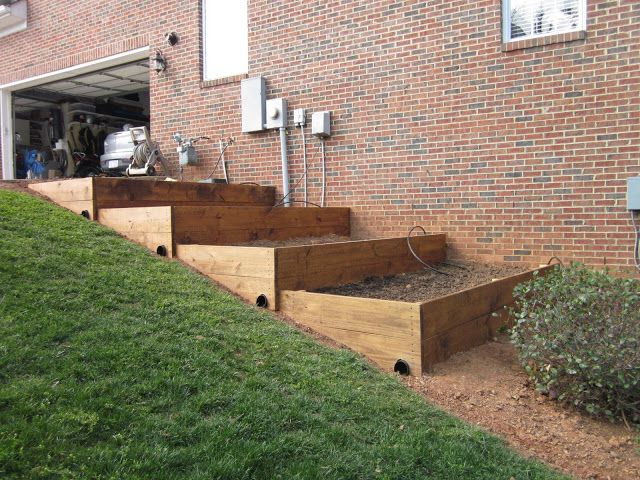 Raised Beds On A Slope Sloped Garden Building