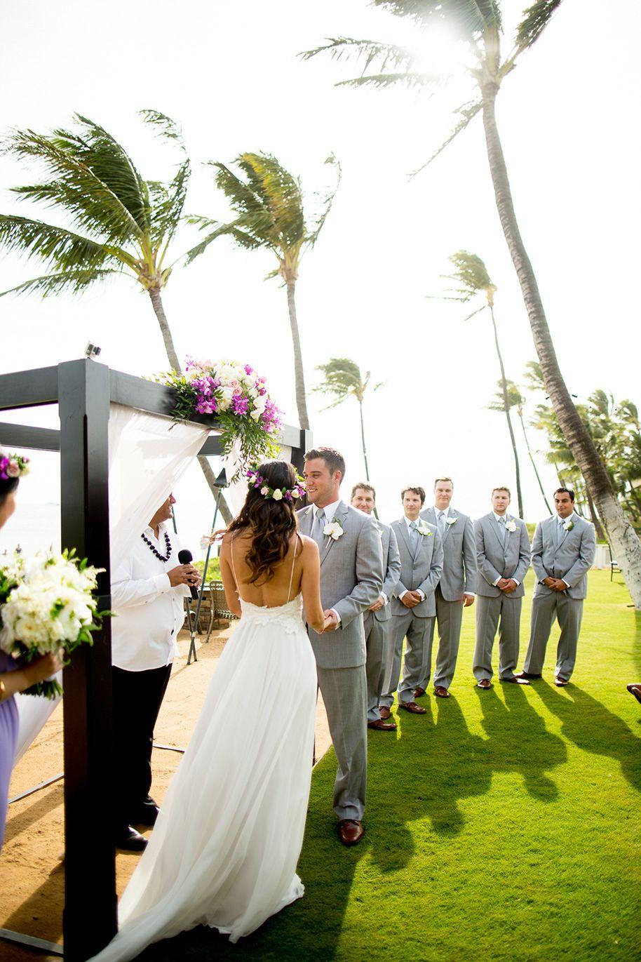 A Fun Beachside Maui Wedding Maui weddings, Wedding