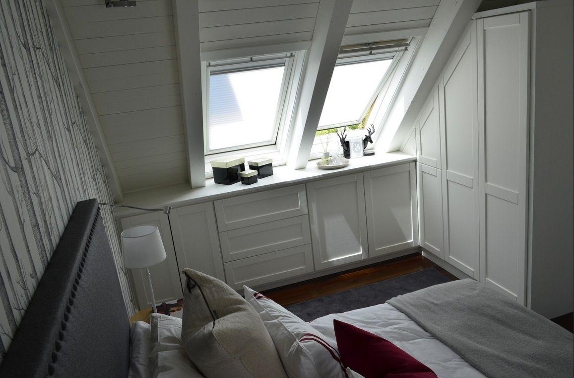 Dormitorio abuhardillado en la montaña